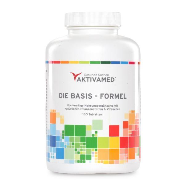 Basis-Formel Mulitivitamin A-Z mit VITAMIN C - Über 32 Vitamine, Mineralien & Spurenelemente inkl.